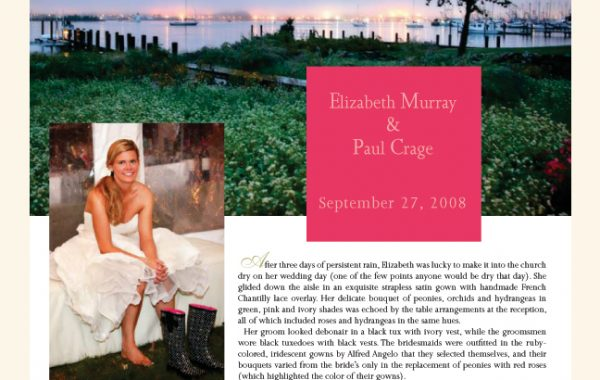 P+K | Real New England Bride - The Wedding of Elizabeth & Paul Graces The Pages of New England Bride