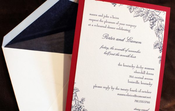 Yours Truly, Mara - Wedding Invitations - Invite Ideas for Boston Weddings