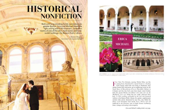 Boston Public Library Wedding graces the pages of GALA