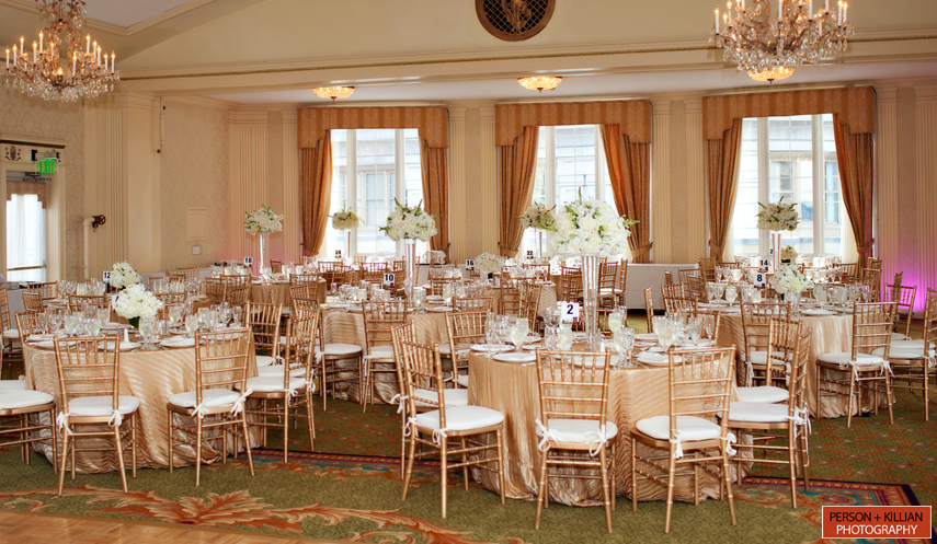 Venue: Omni Parker House Hotel, Boston; Photography: Person + Killian  Photography; Hair And Makeup: The Salon On Haven, Reading, MA; Dress: Vera  Wang White ...
