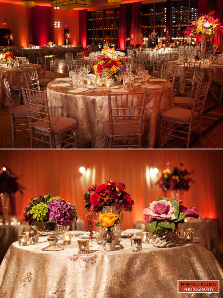 Intercontinental hotel boston fall wedding by person for Hotel decor items