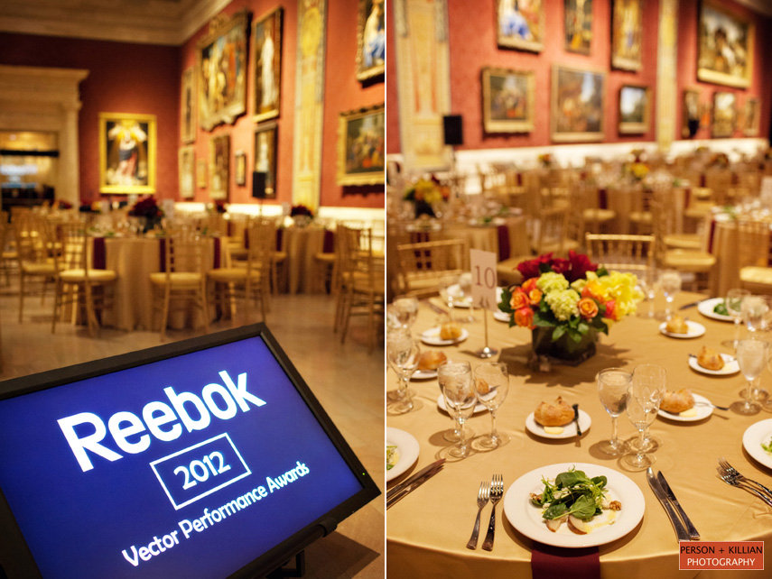 Annual reebok awards dinner 2013 museum of fine arts boston for Annual dinner decoration