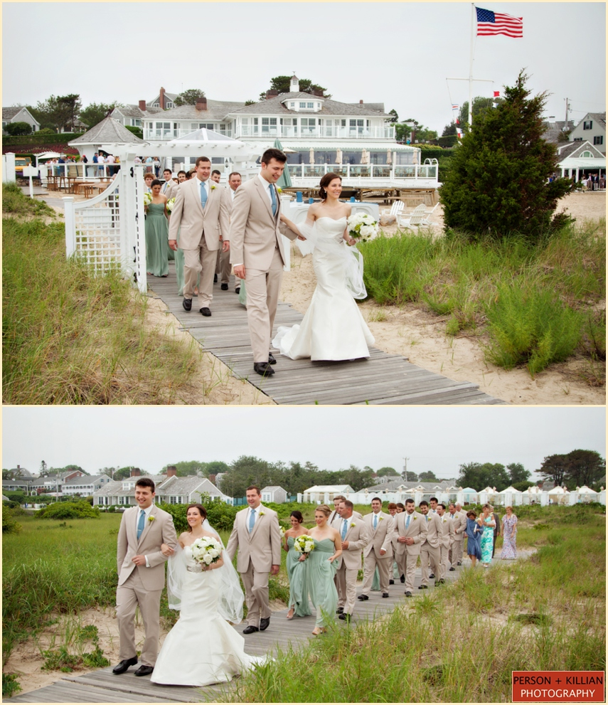 Wedding on the beach - We Got Some Great Photographs Of The Bride And Groom With Their Bridal Party Right On The Water S Edge With Classic Cape Cod Boats Floating Just Behind In