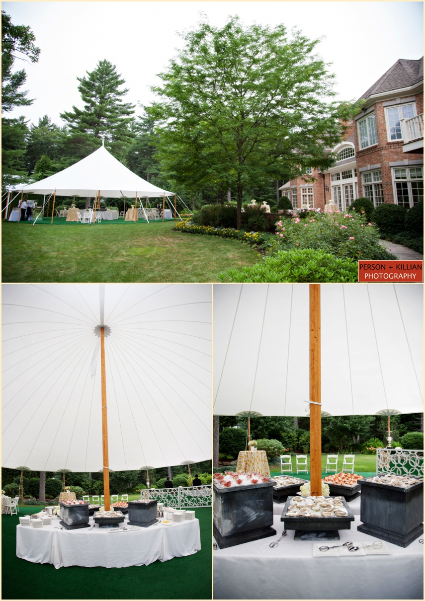 photographs from tented summer wedding with the catered affair