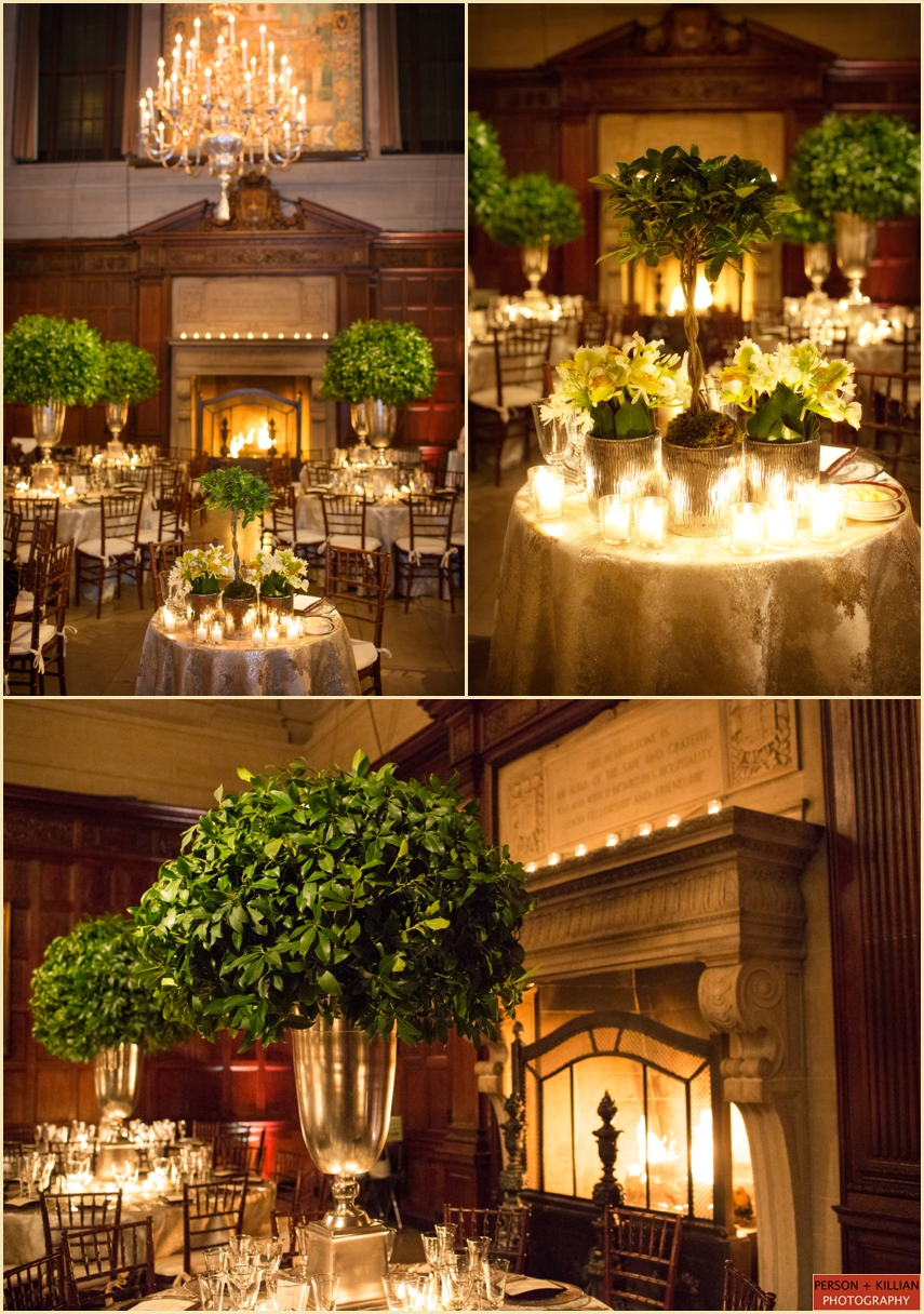 Harvard Club Boston Wedding design and Decor Harvard Hall