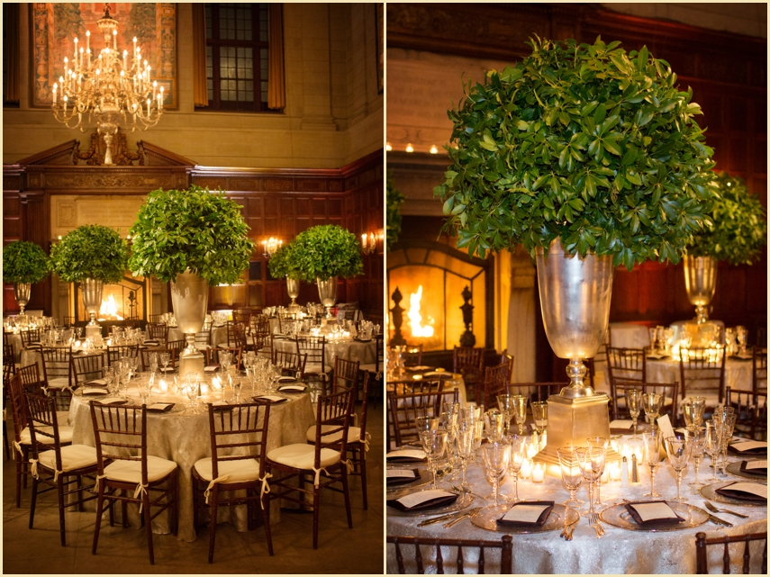 Harvard Club Boston Wedding design and Decor Winter Wedding