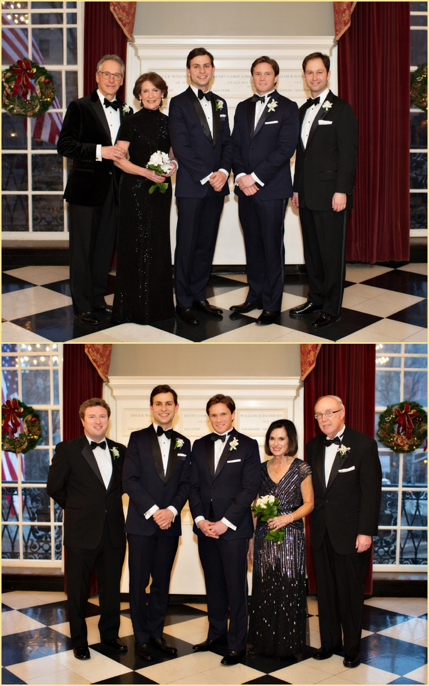Family Wedding Portraits Harvard Club of Boston