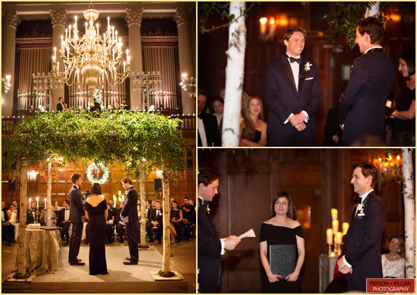 Harvard Hall Wedding Ceremony by Person Killian Photography