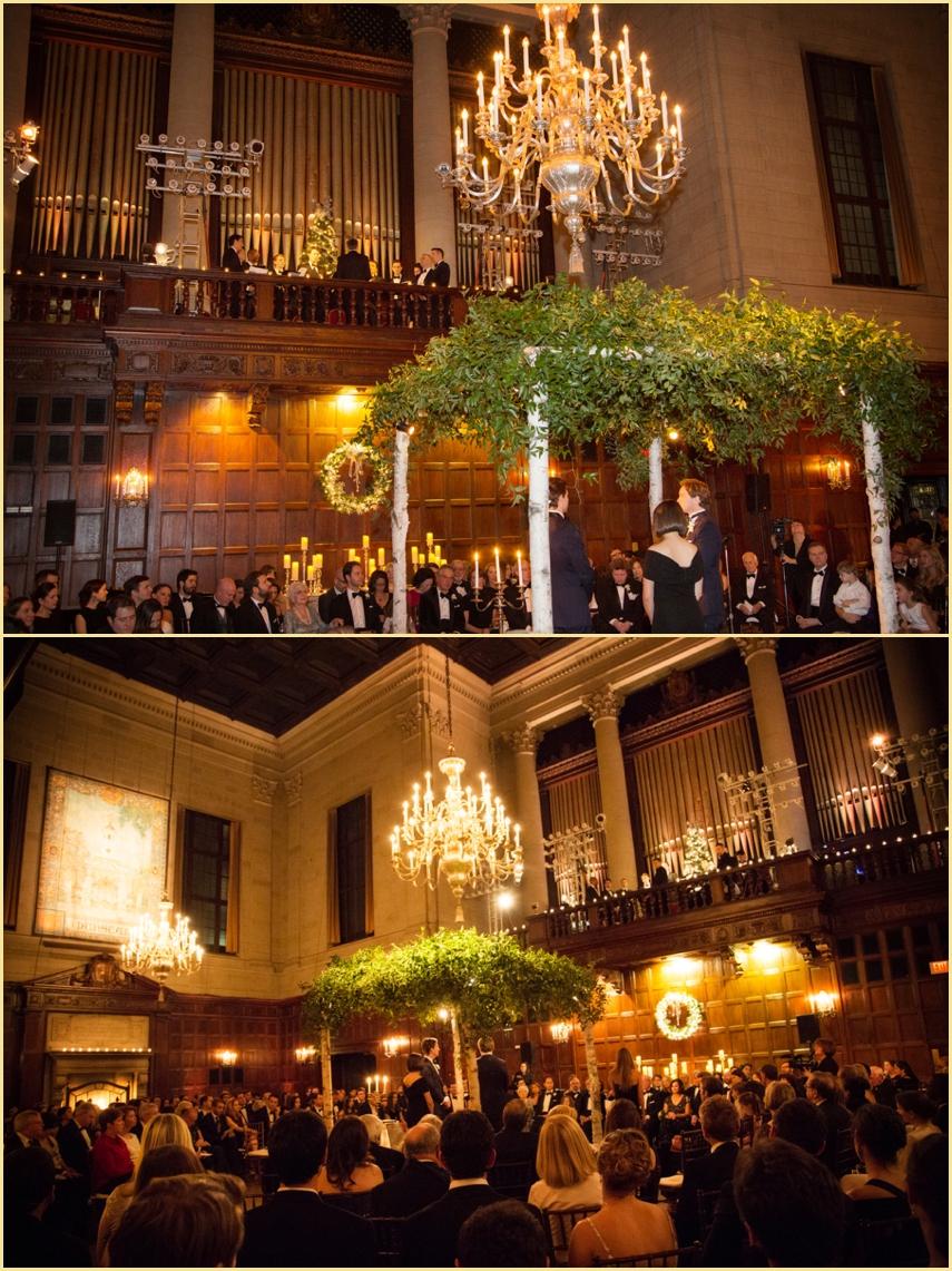 Harvard Hall Wedding Ceremony Harvard Club of Boston MA