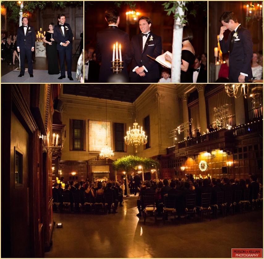 Harvard Hall Wedding Ceremony New Years Eve Wedding Photography