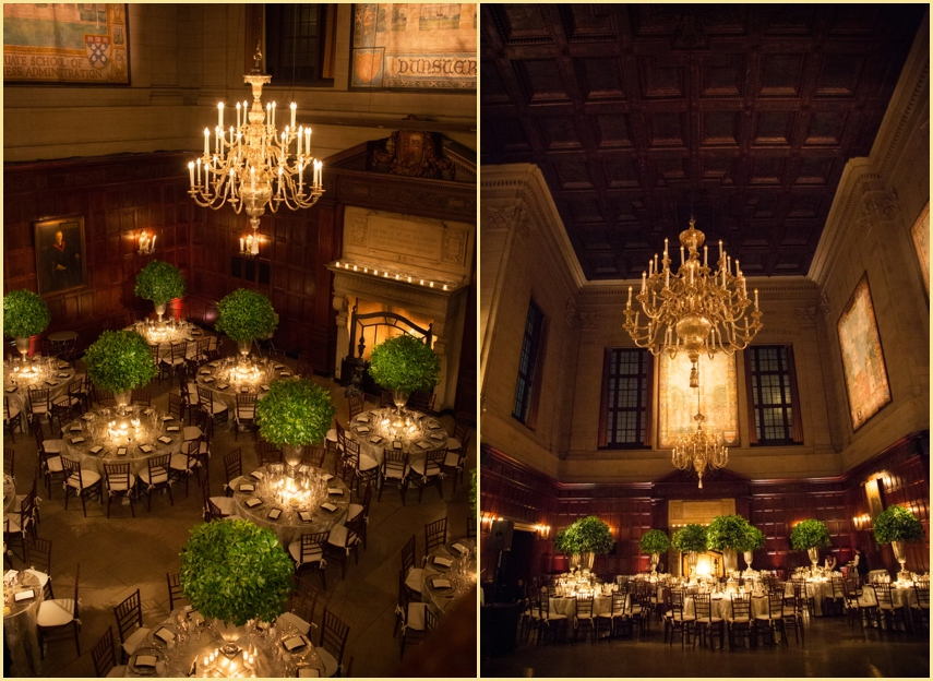 Harvard Club Boston Winter Wedding Design and decor