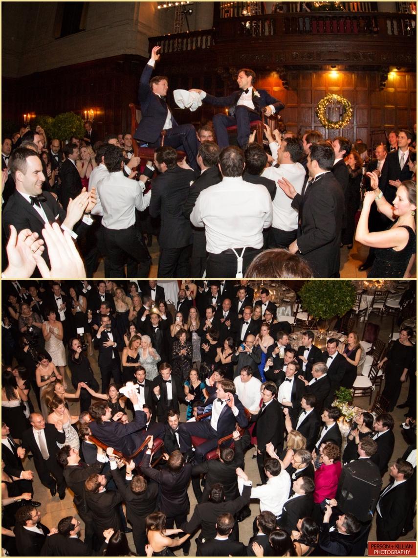 Jewish Wedding Hora Harvard Club of Boston Winter Wedding