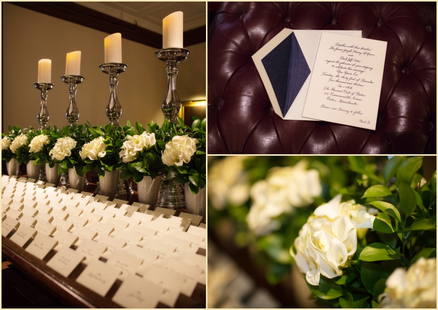 Harvard Club Boston Wedding design and Decor by Marc Hall