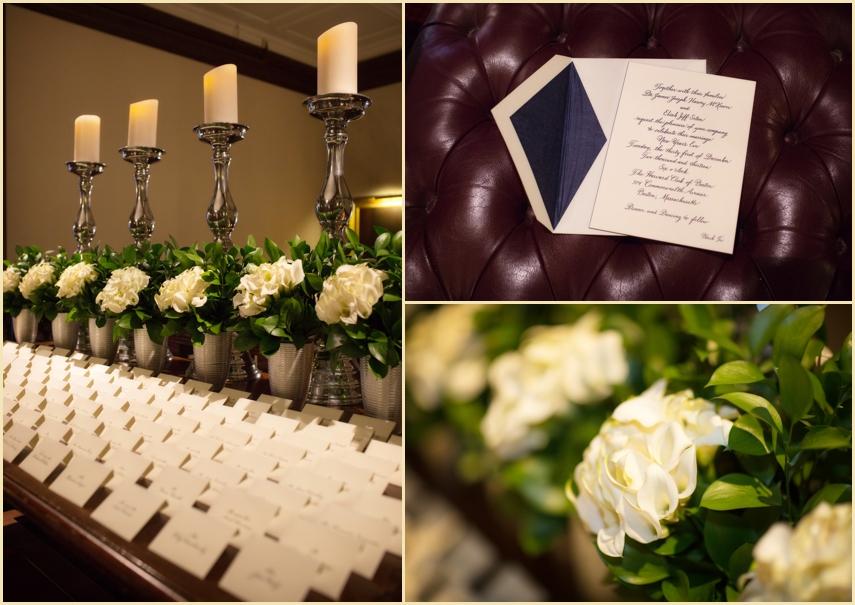 Harvard Club Boston Wedding design and Decor by Marc Hall