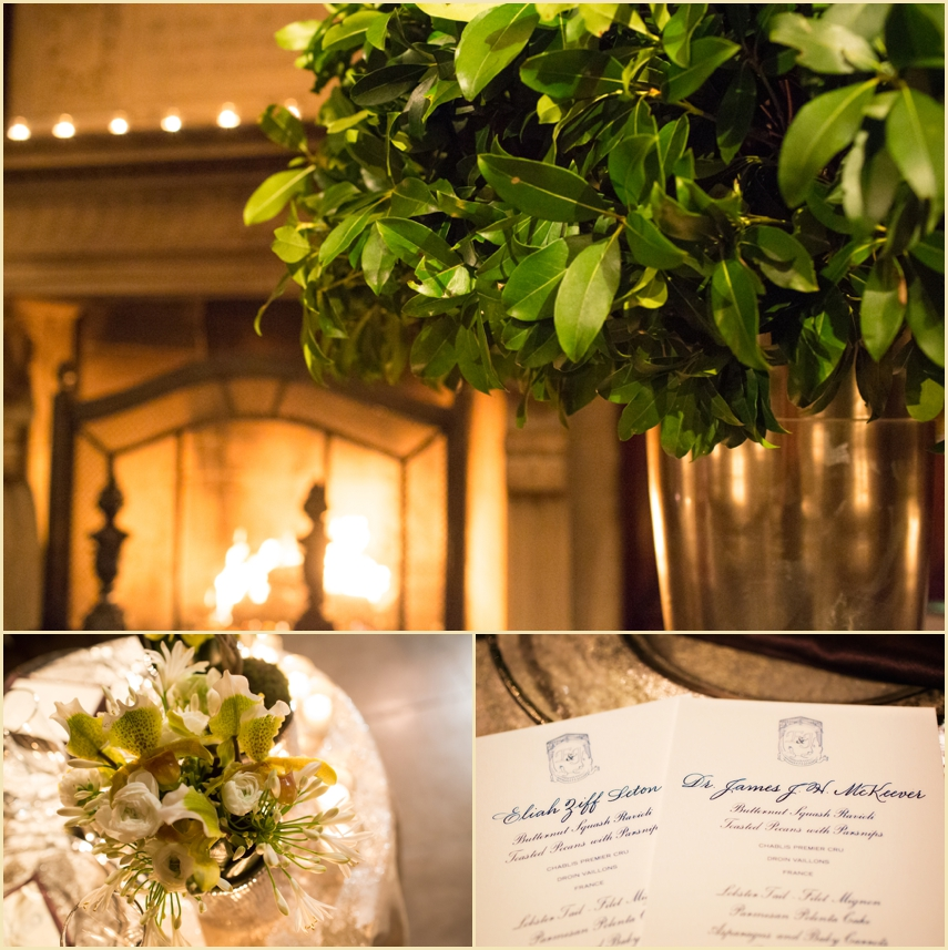 Winter Wedding Decor Harvard Club of Boston