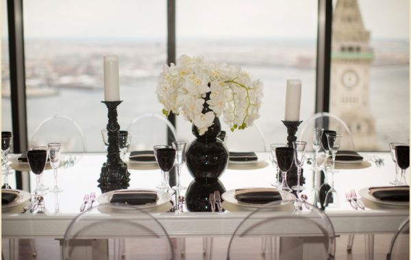 Modern Wedding Table Inspiration from Rentals Unlimited | State Room Boston