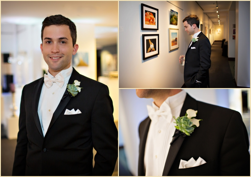 Groom WEdding Portraits with Florals by Charlotte Designs