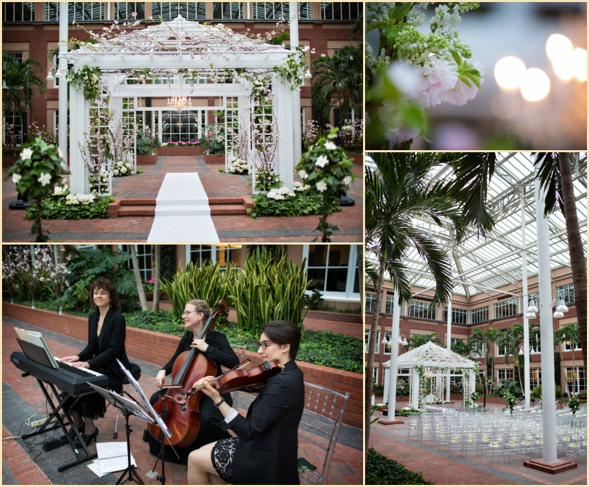 Indoor Garden Atrium Wedding Decor