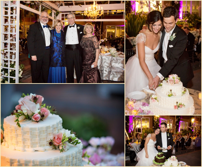 Wedding Cake Cutting of Lauren and Marc by Person + Killian Photography