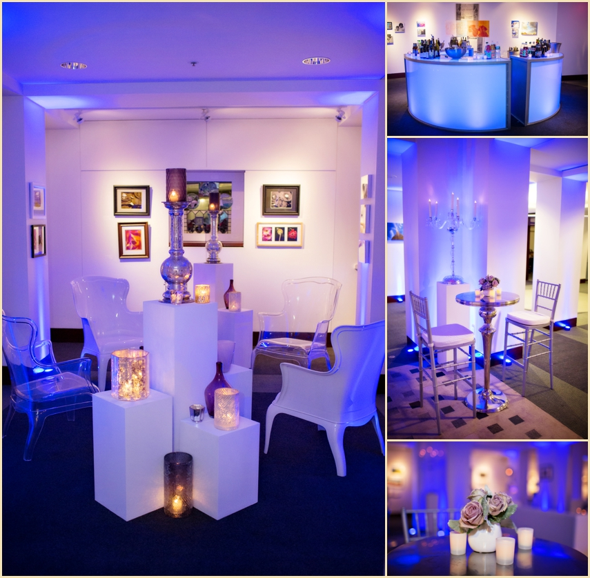 Evening Wedding Reception Decor and Design by Reserve Modern Rentals