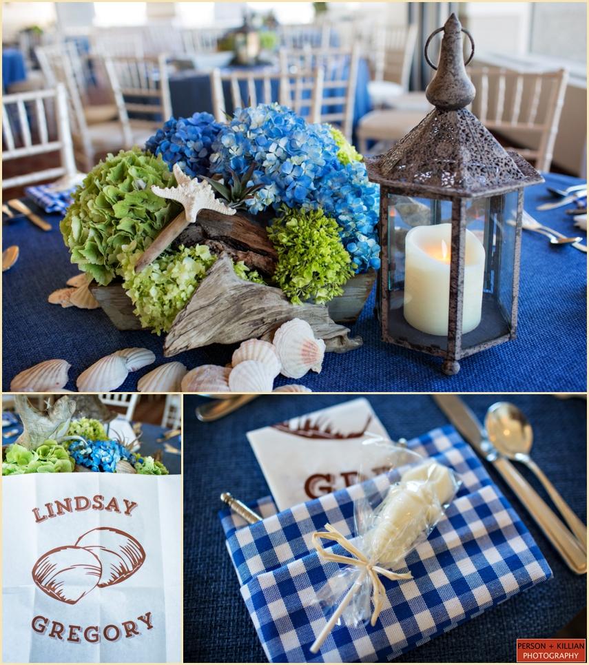 Nautical Table Settings Wedding Rehearsal Dinner P K