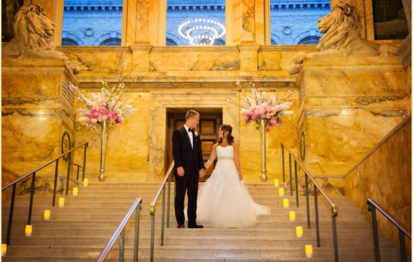 Boston Public Library Summer Wedding of Lindsay and Greg with The Catered Affair
