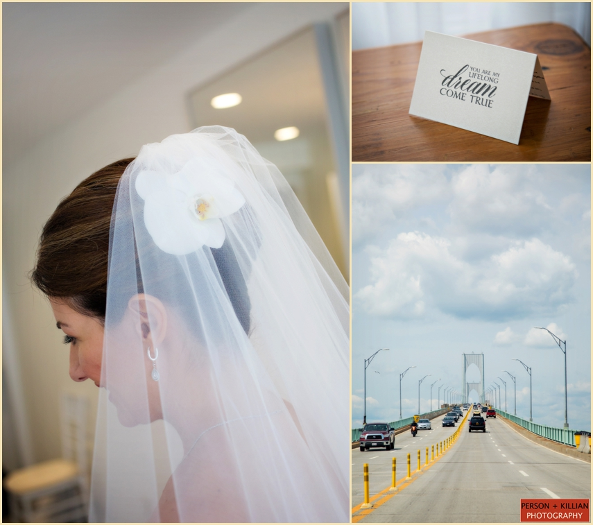 Belle Mer Newport RI Wedding Veil