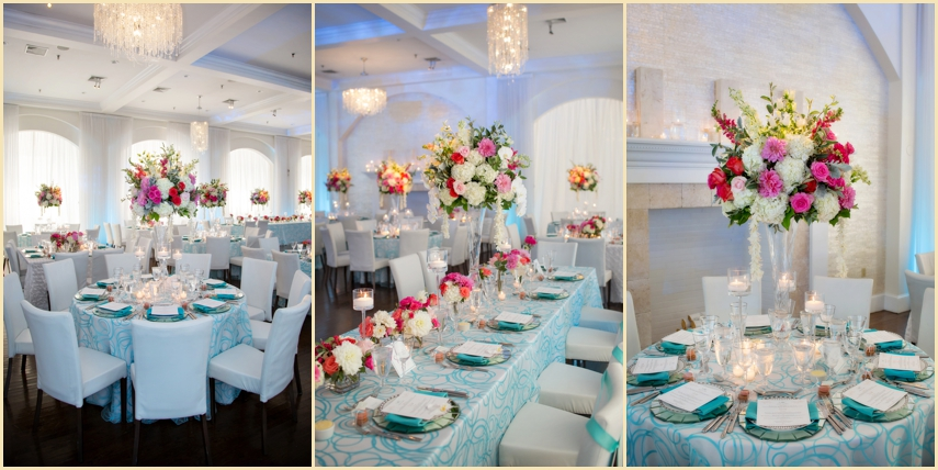 Linens and Florals At Belle Mer Newport RI