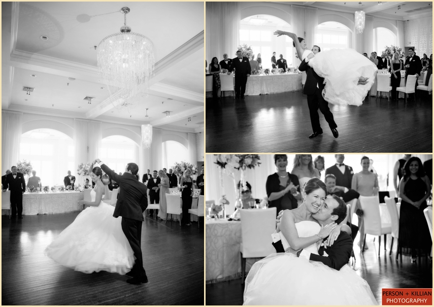 Bride And Groom First Dance At Belle Mer Newport