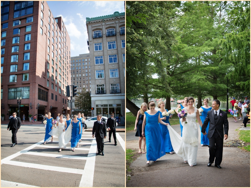 Four Seasons Hotel Boston Wedding Party Images