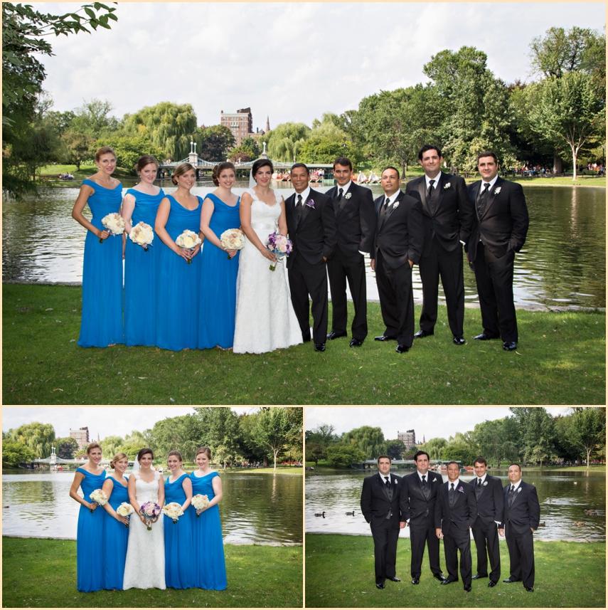 Four Seasons Hotel Boston Wedding - Boston Public Garden Wedding Party Photographs