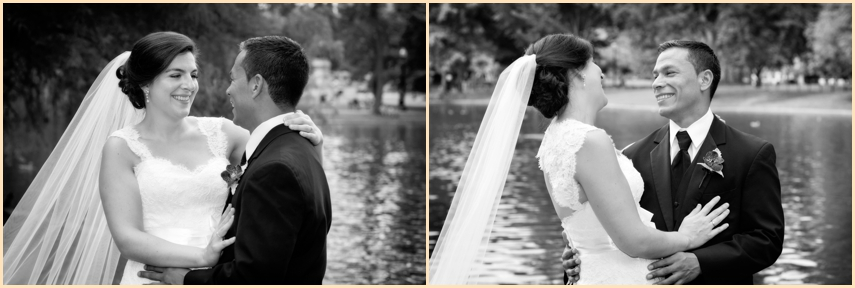 Four Seasons Hotel Boston Wedding - Boston Public Garden Candid WEdding Photography