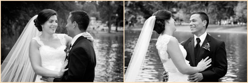 Four Seasons Hotel Boston Wedding - Boston Public Garden Candid WEdding Photography