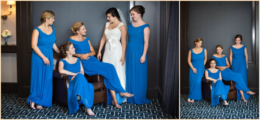Four Seasons Hotel Boston Wedding - Bride and Bridesmaids Dresses