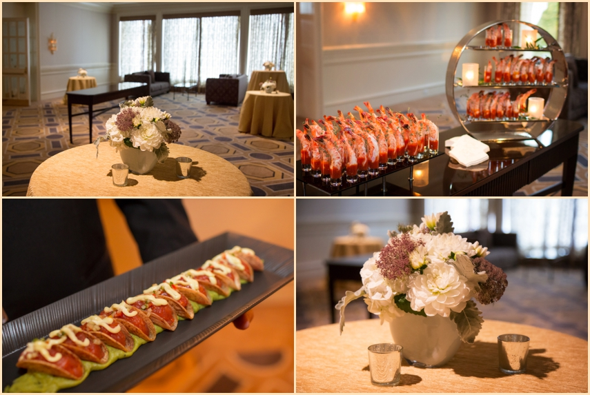 Four Seasons Hotel Boston Wedding - Cocktail Hour Decor