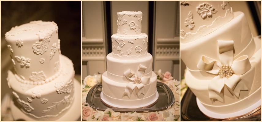 Four Seasons Hotel Boston Wedding - Classic White Wedding Cake