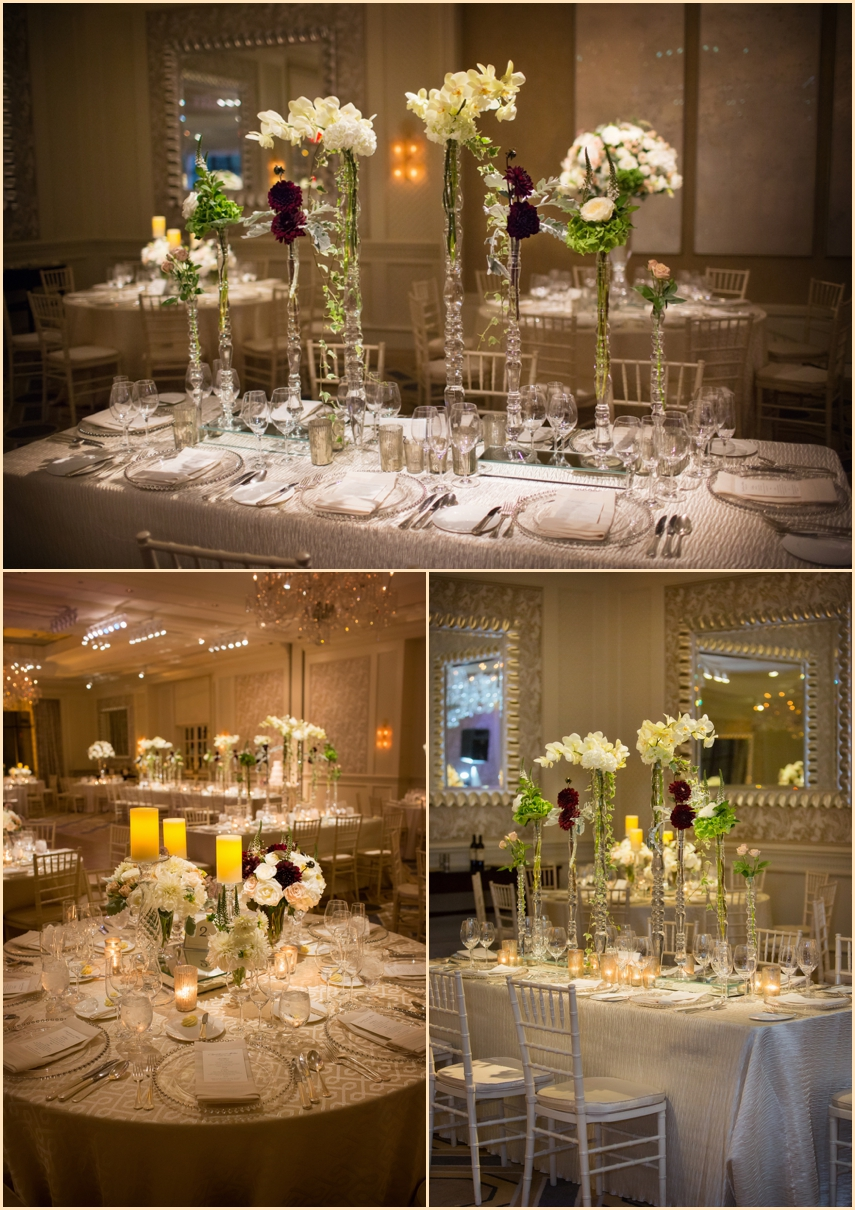 Four Seasons Hotel Boston Wedding - Ballroom - Winston Flowers and SBL Lighting