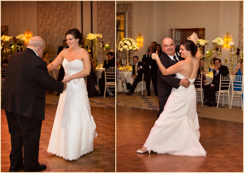Four Seasons Hotel Boston Wedding Parent Dances - Bride and her Father