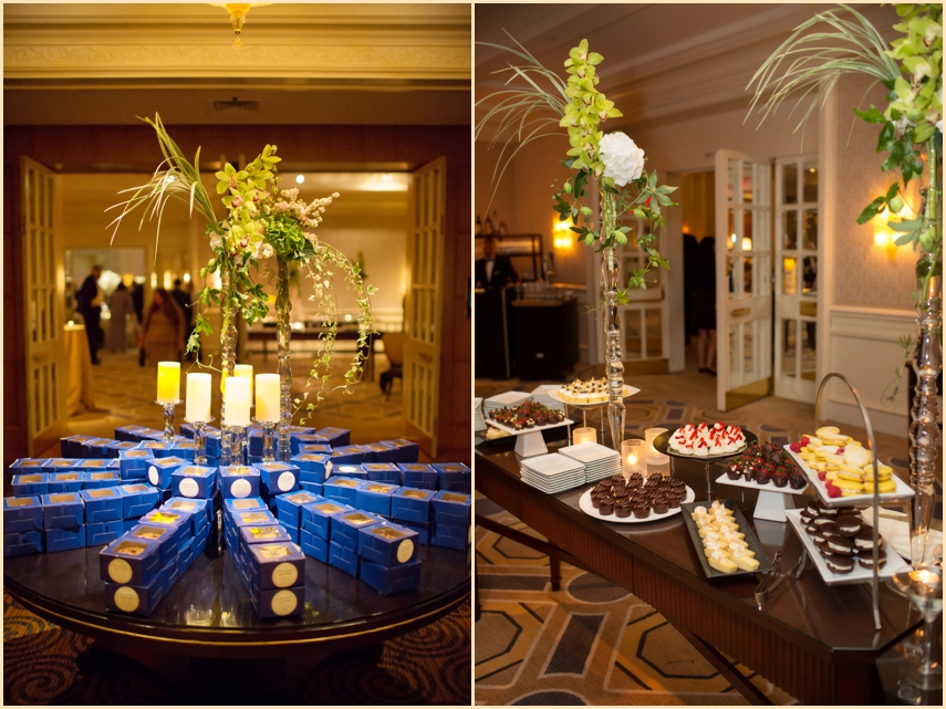 Four Seasons Hotel Boston Wedding Favors and late night sweets