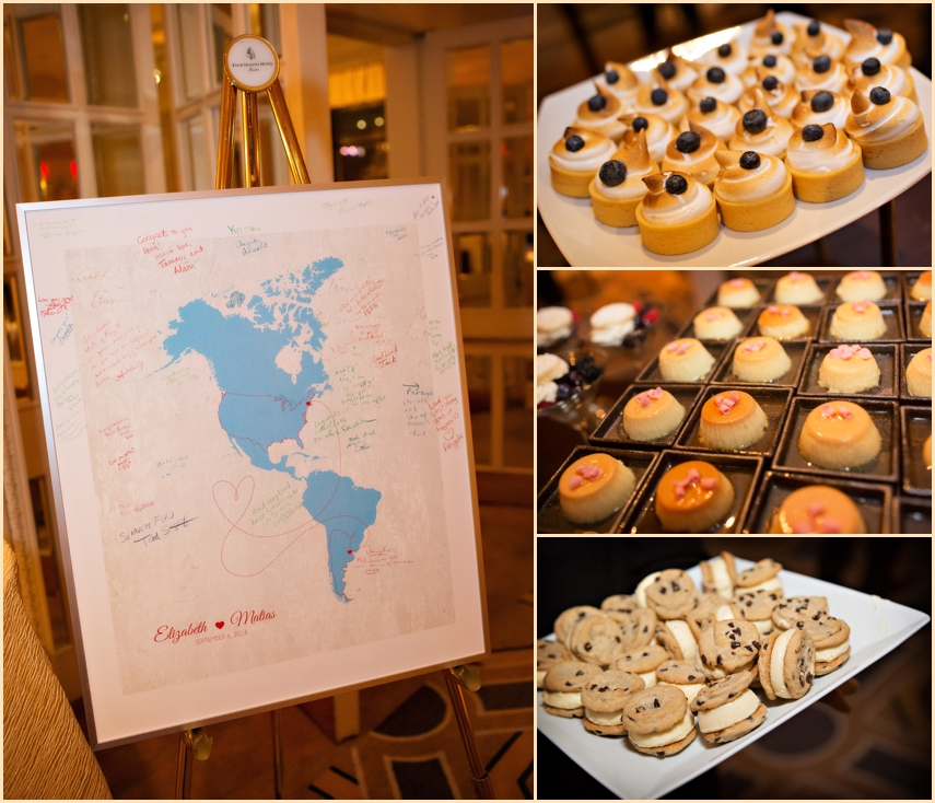 Four Seasons Hotel Boston Wedding Sweets and Wedding Details