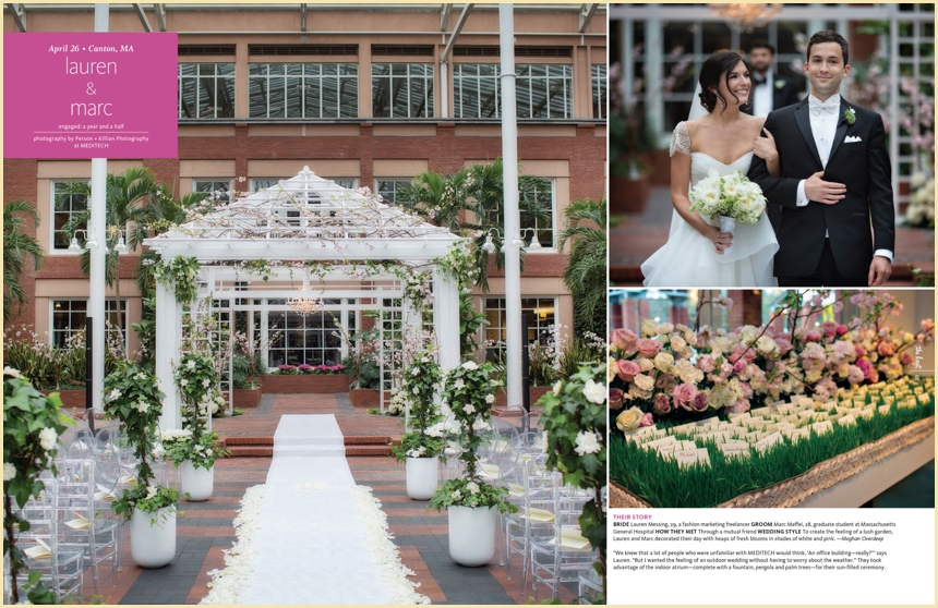 The Knot Magazine Real Wedding Feature Of Lauren & Marc