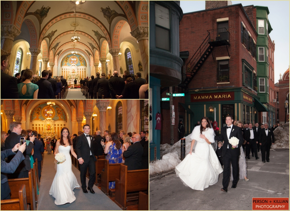 Sacred Heart Church Winter Wedding