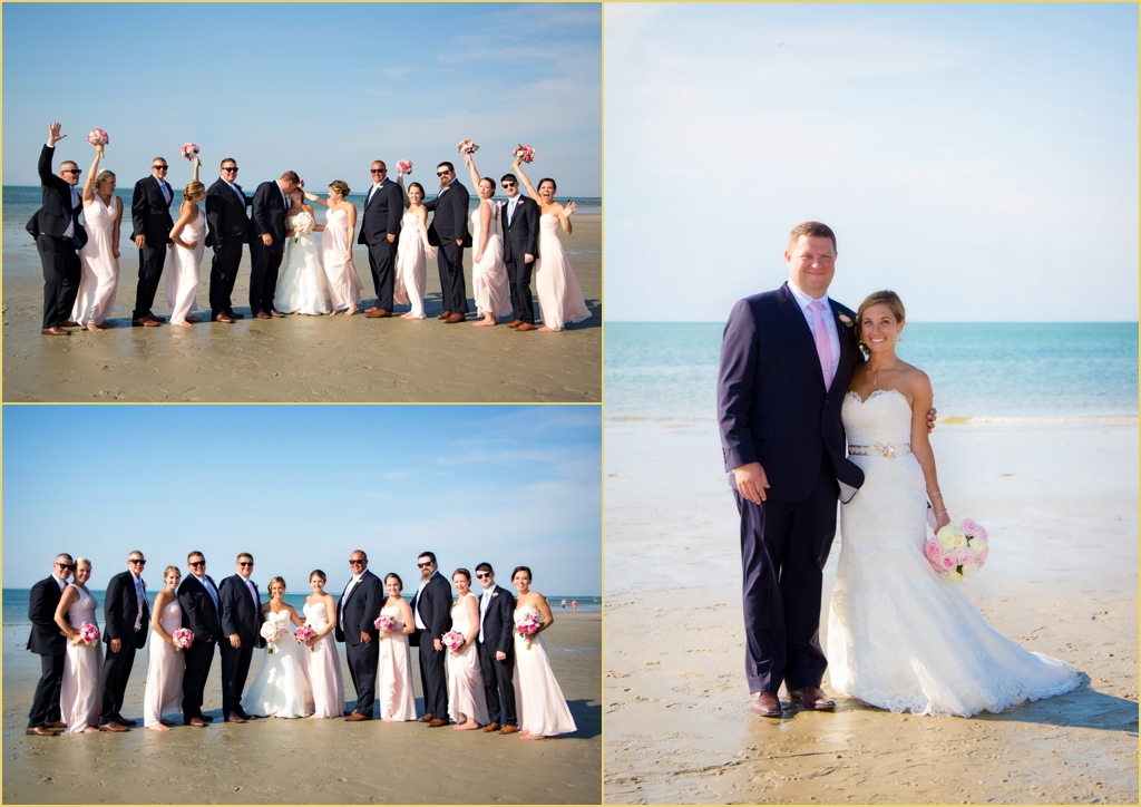 Beach Wedding Party Formal Photography