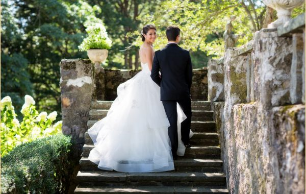 Simin + Nick's Romantic Boston Garden Wedding