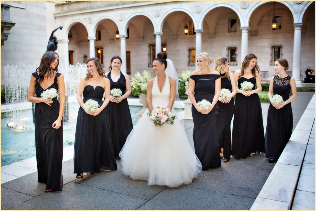 Bridesmaids at the Boston Public Library Wedding