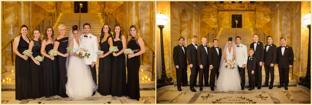 Boston Public Library Wedding Party Portraits