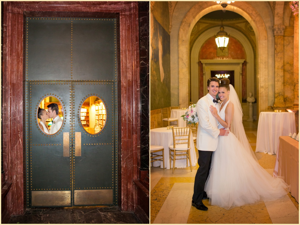 Wedding Portraits at the Boston Public Library