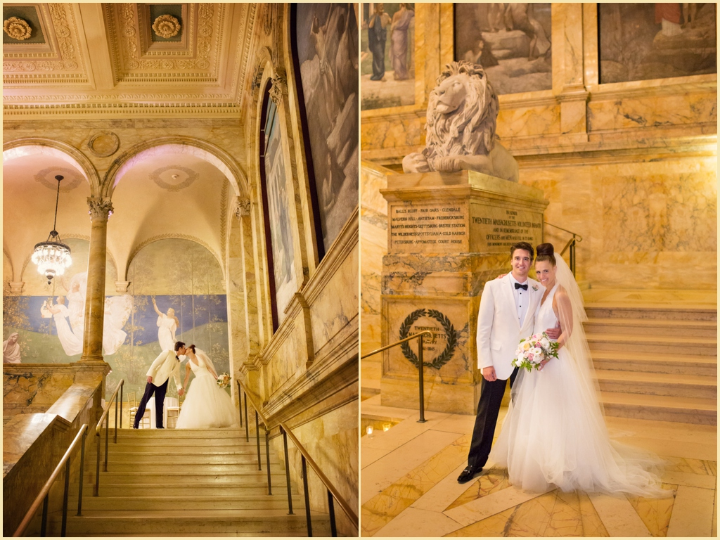 Boston Public Library Summer Wedding Photography