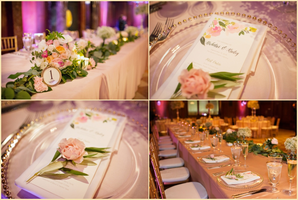 Romantic Wedding Design at the Boston Public Library