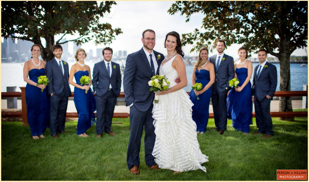 Boston Harbor Wedding Portraits